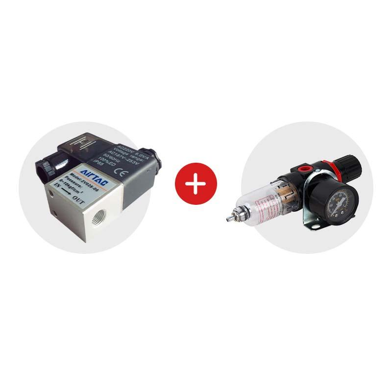 Установка 2 в 1, воздушный клапан и влагоотделитель с регулятором давления
