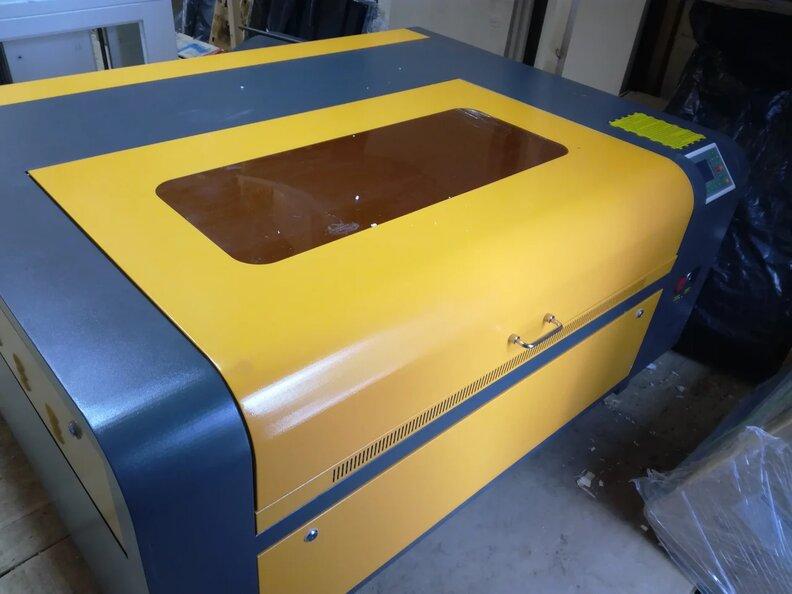 Лазерный станок G-RAY 1080 гравер резчик с рельсами