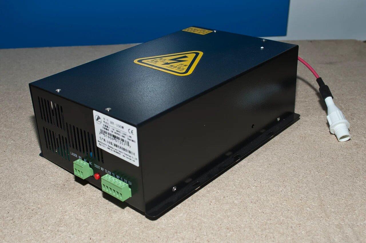 Блок питания с блоком розжига 80 ВАТТ для CO2 лазера